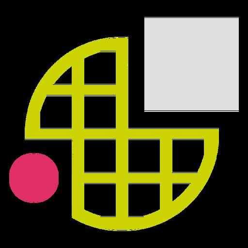 Logotipo de formas de cuadrícula circular