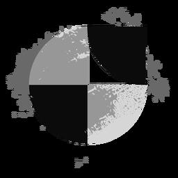 Kreis-Grunge-Logo