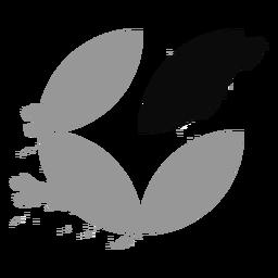 Circle leaves grunge logo