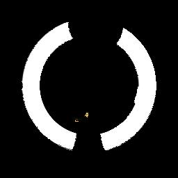 Logotipo de mono circular