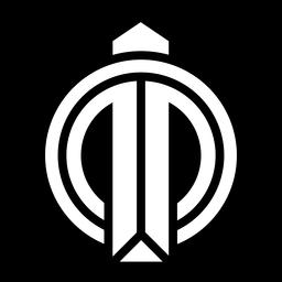 Logotipo abstrato do círculo monocromático