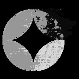 Logotipo brilhante em forma de círculo