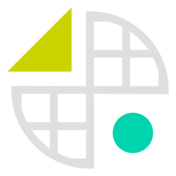 Eingekreistes Gitter formt Logo