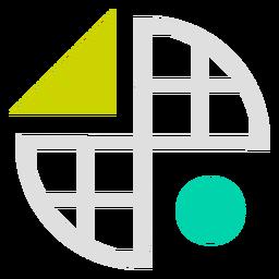 Logotipo de formas de grade circuladas