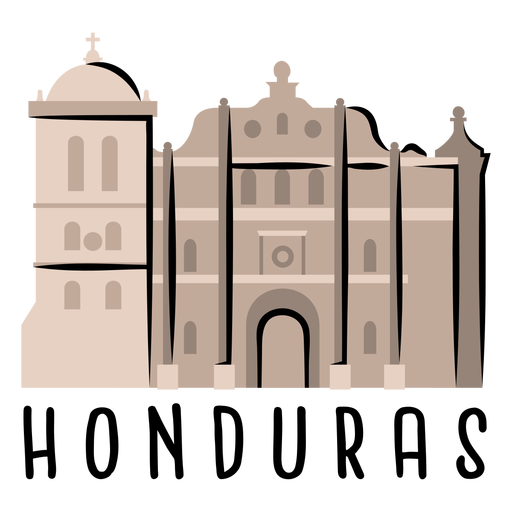 Comayagua cathedral illustration