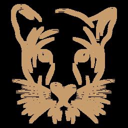 Trazo de curva de cabeza de puma