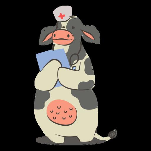 Carácter de enfermera de vaca
