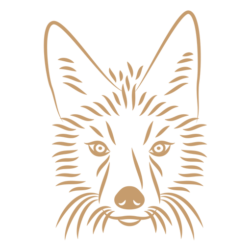 Coyote head curve stroke