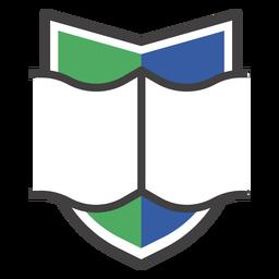 Logotipo do livro aberto Crest