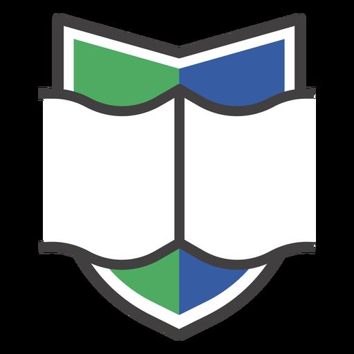 Logotipo de libro abierto de cresta