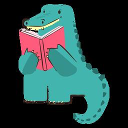 Crocodile reading character