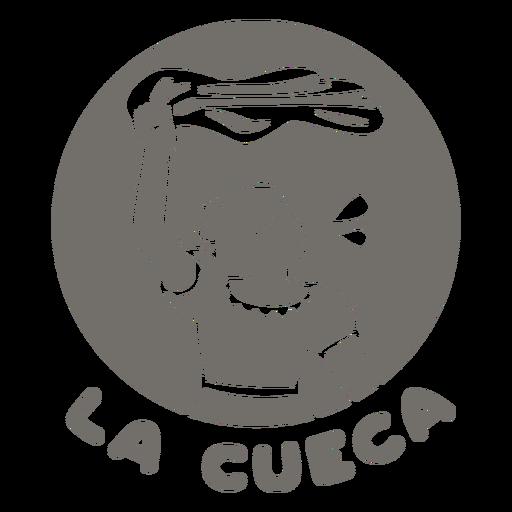Cueca dance monochrome