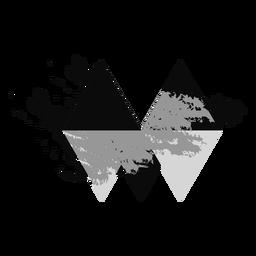 Logotipo de diamante triángulo grunge