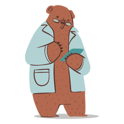 Doctor bear character