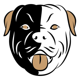 Dog head duotone