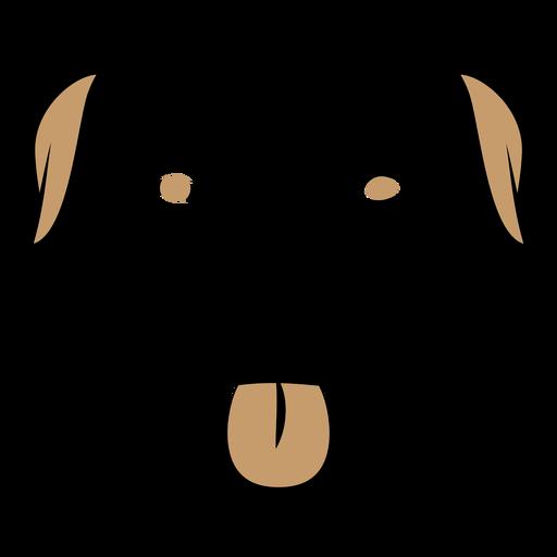 Dog head duotone
