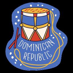 Doodle de tambora de república dominicana