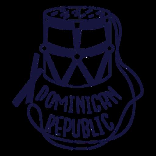 Doodle monocromo de tambora dominicana