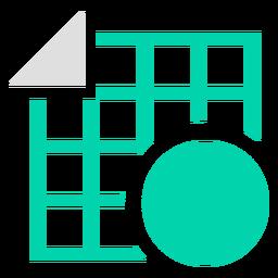 Logotipo da forma de grade Duotone