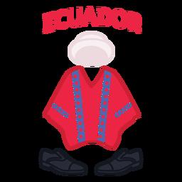 Ecuador clothing flat