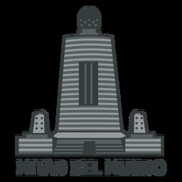 Monumento al ecuador plano