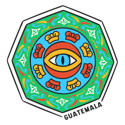 Eye mandala hectagon guatemala