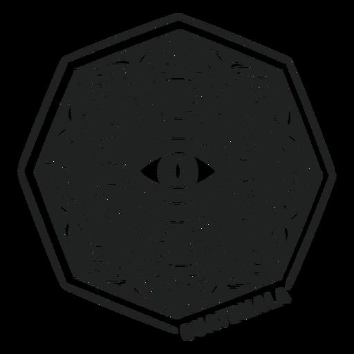 Eye mandala hectagon guatemala cut out