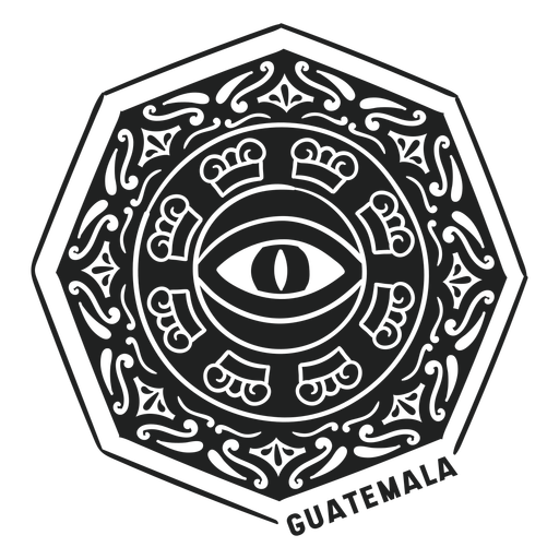 Olho mandala hectagon guatemala recortado