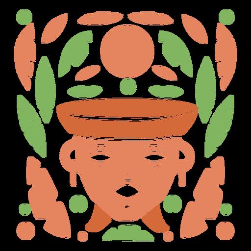 Face vase leaves Transparent PNG