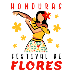 Festival flores honduras illustration