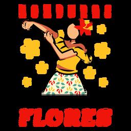 Festival flores honduras ilustración