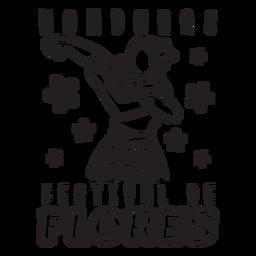 Festival flores trazo