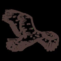 Flying eagle hand drawn