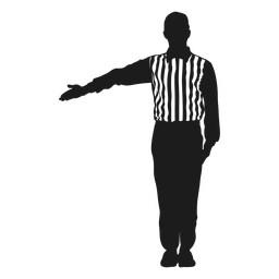 Football referee cut out