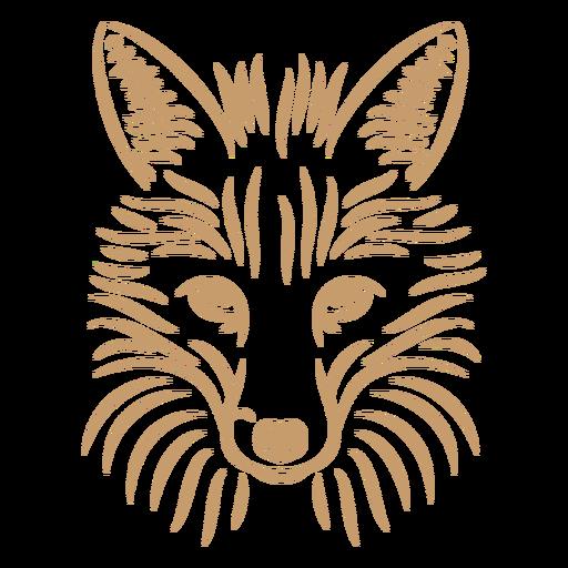 Fox head curve stroke