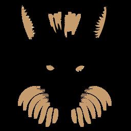 Duotono de cabeza de zorro