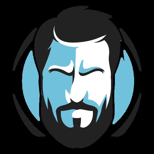 Logotipo de barba completa