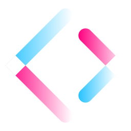 Gradient greater than signs logo