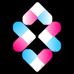Logotipo de composición de forma degradada