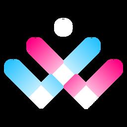 Logo degradado de tres colores