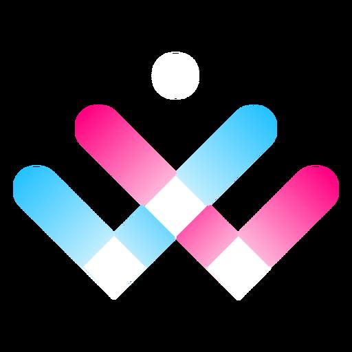 Gradient three color logo