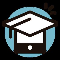 Graduation cap phone logo