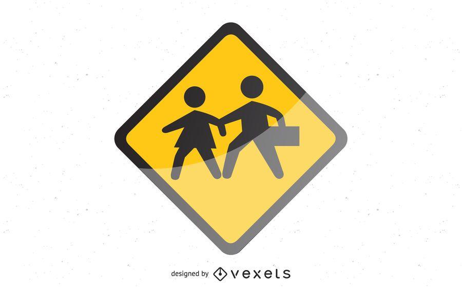 Signos de la escuela brillante brillante