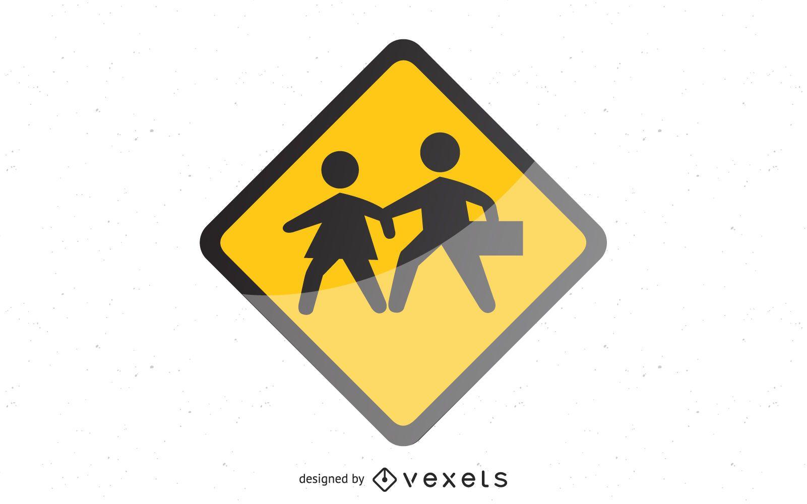 Glossy shiny school signs