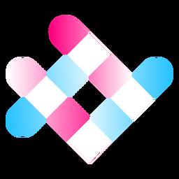 Logotipo de gradiente de cuadrícula