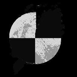 Logotipo de grunge en escala de grises