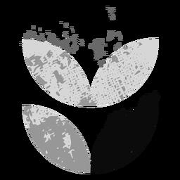Grunge leaf logo