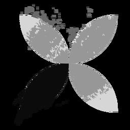 Logotipo de hojas de grunge