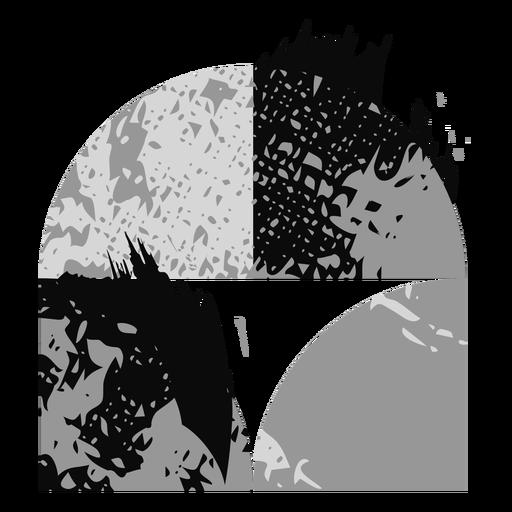 Grunge shapes logo