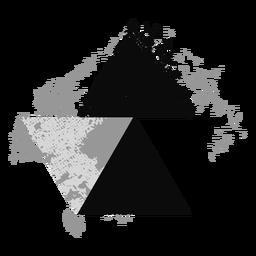 Grunge triangle logo